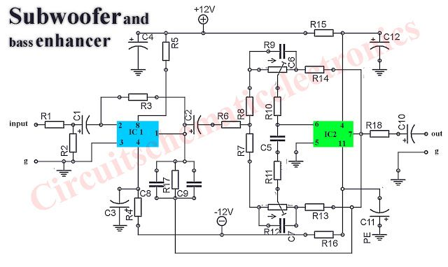 Subwoofer booster circuit is used to enanching or boosting or increase the subwoofer amplifier