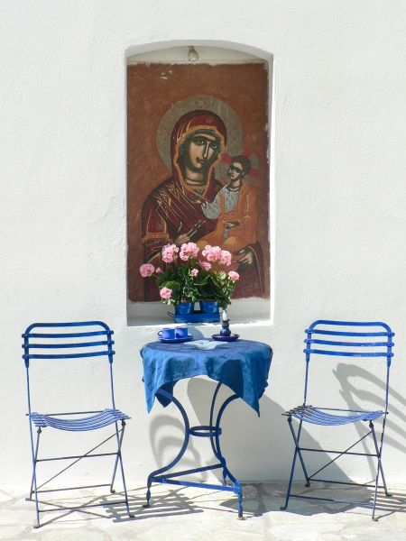 Wall painting of Panagia Spiliani