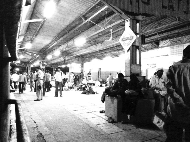 Railway platform en route to Mumbai.   #Mumbai #India #Travel
