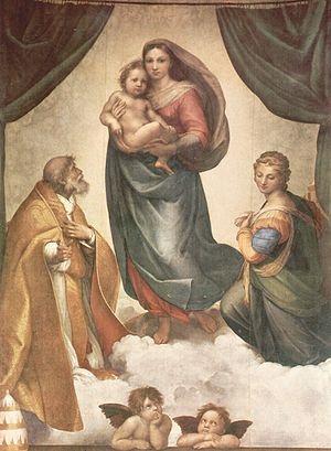 """Sistine Madonna"", also called ""The Madonna di San Sisto"" by Raphael."