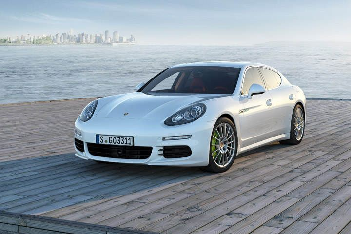 Porsche Panamera S E-Hybrid In its own right, the Panamera is a bit of an odd bird. But it's hard not to love the funky four-door Porsche. It's a big four-door saloon with a gaping hatchback, and in 570 horsepower Turbo S guise it's brash as all hell.