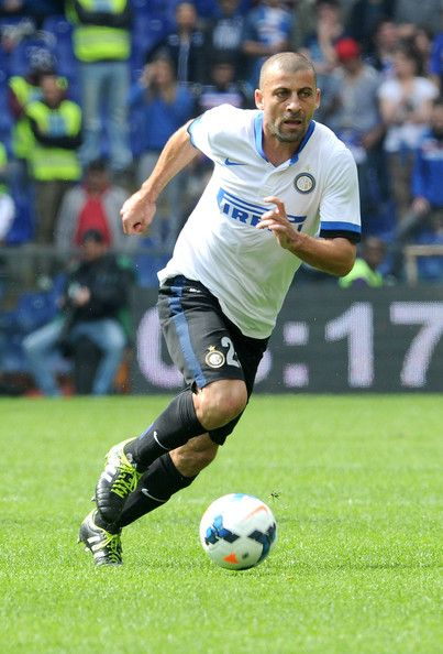 Walter Samuel Photos Photos - Walter Samuel of FC Internazionale in action during the Serie A match UC Sampdoria and FC Internazionale Milano at Stadio Luigi Ferraris on April 13, 2014 in Genoa, Italy. - UC Sampdoria v FC Internazionale Milano - Serie A
