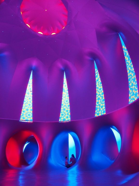 Inflatable Maze-Like Sculpture Bathes People In Colored Light   The Creators Project