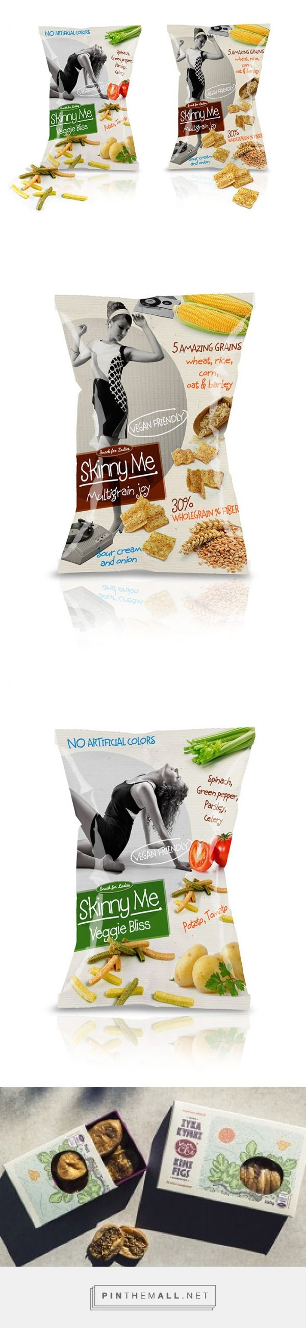 Skinny Me via Package Design Inspiration by Radostin Hristov, Bulgaria curated by Packaging Diva PD. Enticing chips packaging design.