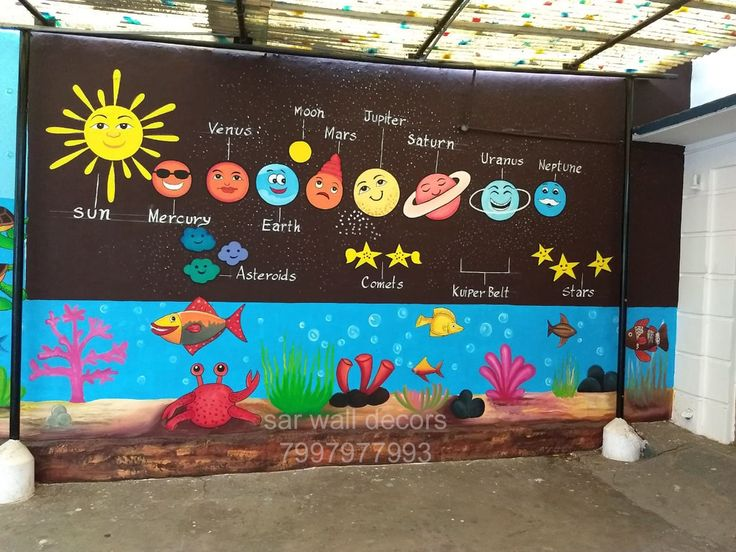 #3dwallpainting for play school #wall painting for pre ...