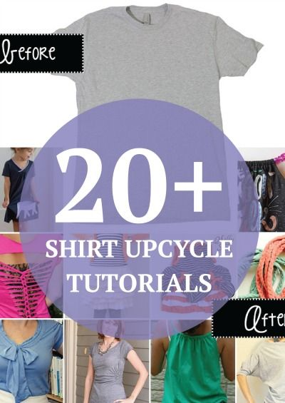 Want to spice up your plain t-shirt? Check out these 20+ tutorials right here!