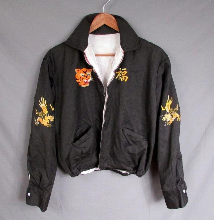 Vintage Mens Military Vietnam Quot Pleiku Quot Souvenir Tour Of Duty Jacket 1966 1967 Authentic