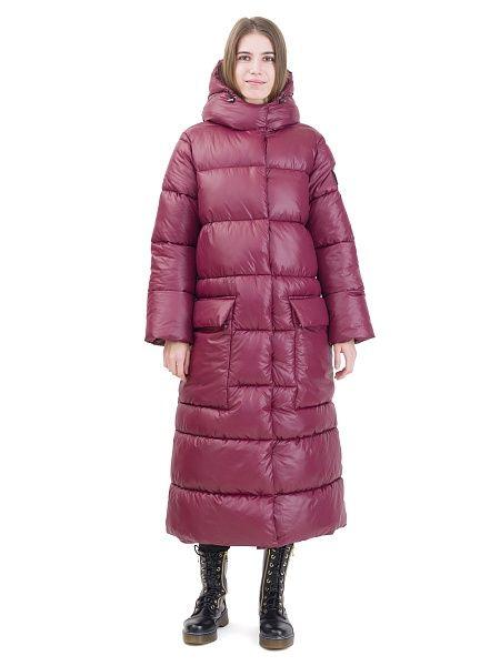 Пальто DOCTOR E. Цвет бордовый. Вид 1.