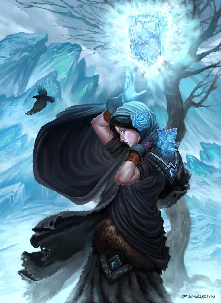 Boreas The Frost Mage by rzanchetin.deviantart.com on @deviantART