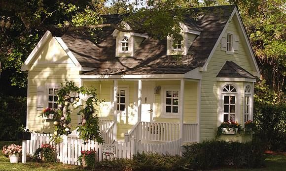 Dreamy pale yellow cottage