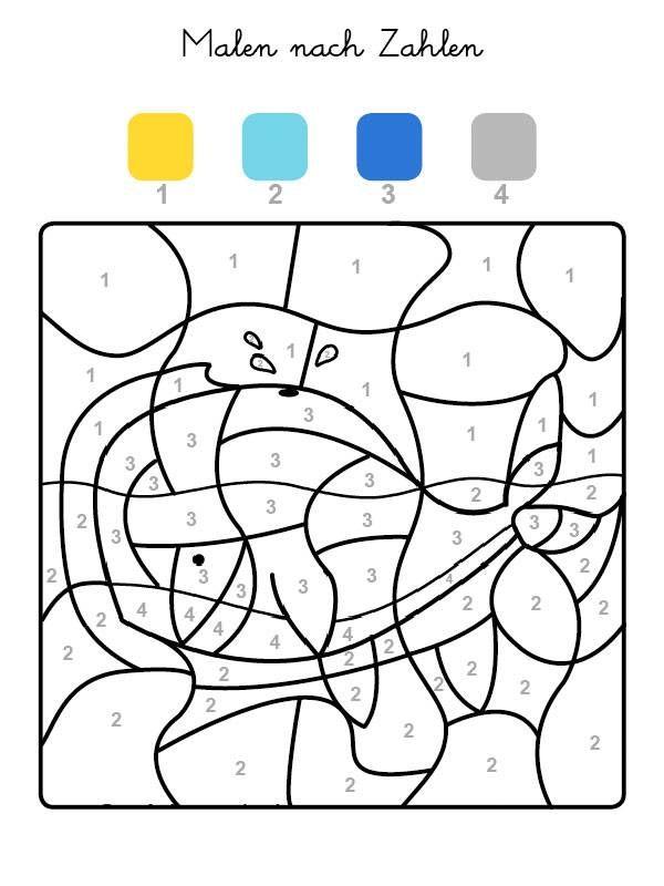 Die Felder Mit Der Zahl 1 Werden Gelb Felder Mit Der Zahl 2 Hellblau Die Mit Der Zahl 3 Malen Nach Zahlen Kinder Malen Nach Zahlen Malen Nach Zahlen Vorlagen