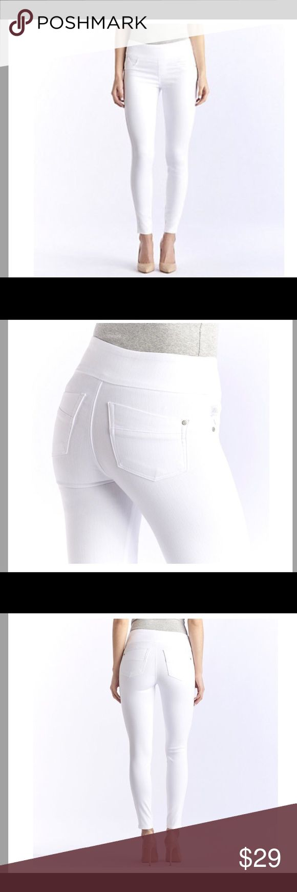 Rock & Republic Denim Rx Fever Midrise Jegging White Rock & Republic Fever Midrise Jegging. These white jegging/leggings are super cute for summer and are so flattering! Panel at the waist does not have a button or zipper. Two stains on the inside front as pictured. Rock & Republic Pants Skinny