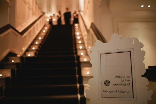 Ceremony at the top of the stairs