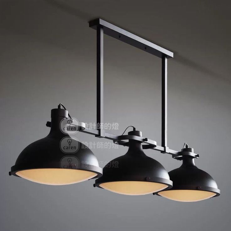 Aliexpress.com : Acquista Rh loft vintage retro american style industrial 3 teste lampade a sospensione bancone ristorante light fixture decorativa luminiare da Fornitori accese fontane d'acqua all'aperto affidabili su Zhongshan East Shine Lighting.