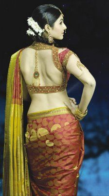 Gorgeous #Saree & open back #Blouse  ~ Queen Of Heaven...