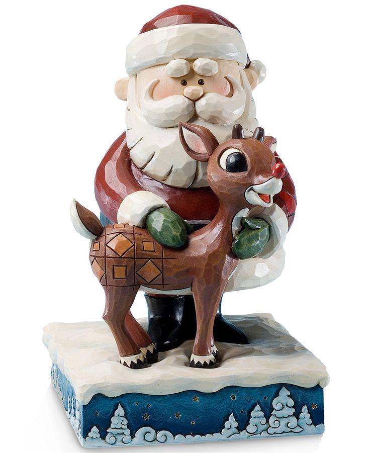 Jim shore santa hugging rudolph collectible figurine