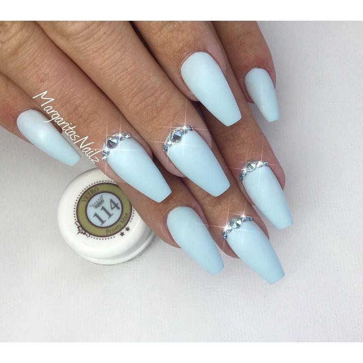 @vetro_usa #mattenails #naturalnails #bluenails #nailart #matte #nails #gelnails #MargaritasNailz #coffinnails #valentinobeautypure #vetrogel #teamventura #nailswag #nailstagram #swarovski #nailprodigy #nailsofinstagram #naildesign #nailedit #nailfashion #nailaddict #nails2inspire #naturalnails #instanails #summernails #nailart #nails by margaritasnailz