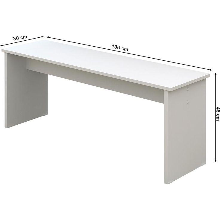 Banco para Mesa de Cozinha 4520 Branco Brilhante - Madesa 120 reais
