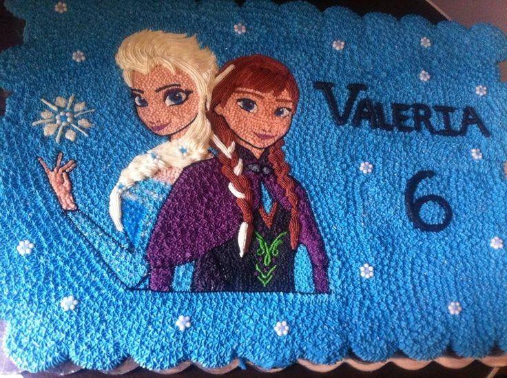 Pastel Elsa y Ana de Frozen 100 Cupcakes de Chocolate rellenos Diseño en betún de mantequilla