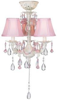 dainty pink chandelier