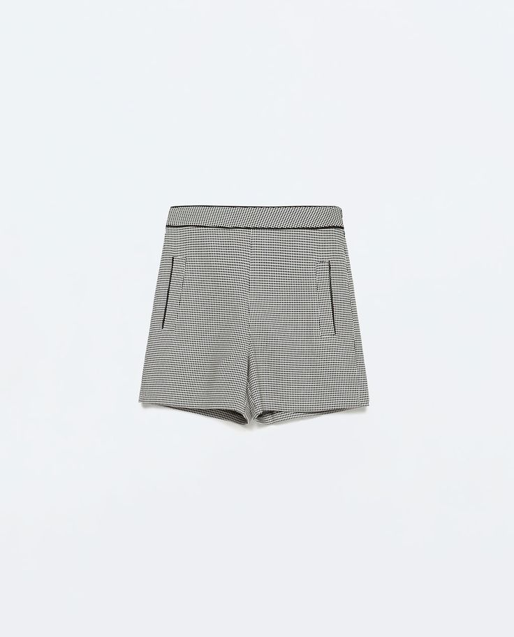 Image 7 of JACQUARD HIGH-WAISTED SHORTS from Zara
