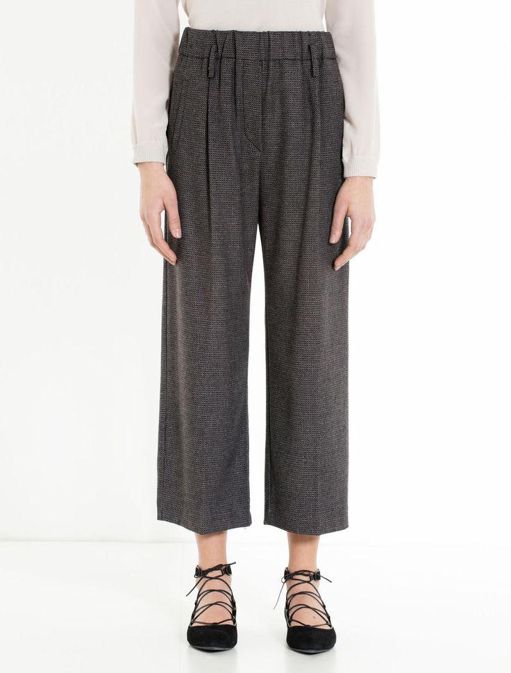 Max&Co. Pantaloni Wide Fit di flanella