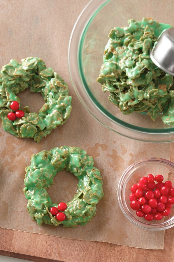 Everybody's favorite no-bake Christmas cookie is easier than ever, and it has the ideal marshmallow-to-crunch-ratio—and plenty of whole-grain goodness thanks to Total cereal. If you can't find cinnamon candies, feel free to use sprinkles or other small candies.
