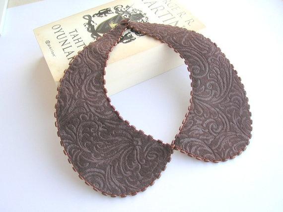 Felt peterpan collar necklace by NurayAytac on Etsy, $30.00