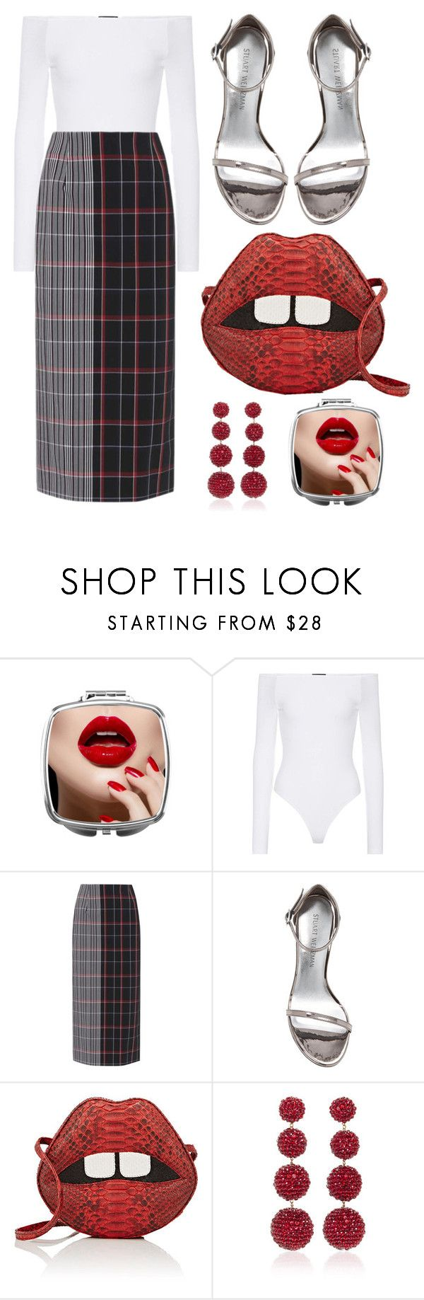 """Untitled #9311"" by cherieaustin on Polyvore featuring ATM by Anthony Thomas Melillo, Victoria Beckham, Stuart Weitzman, Gelareh Mizrahi and Rebecca de Ravenel"