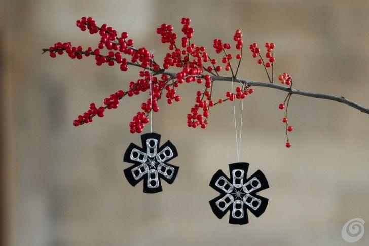 Idee fai da te :: Addobbi di Natale con le linguette delle lattine DIY Christmas decoration with soda beer can tabs
