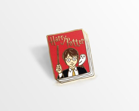 Book Badge enamel pin: Harry Potter by janemount on Etsy