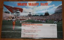 Vintage 1980 Clemson Tigers NCAA Football Ticket Brochure/Schedule Poster