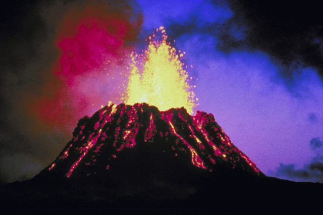 Make a model of a real volcano using simple household ingredients.