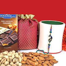 Rakhi with dryfruits and chocolate via Rakhibazaar.com #RakhiBazaar