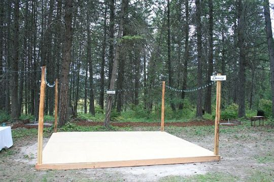 DIY Dance Floors For the Home Wedding