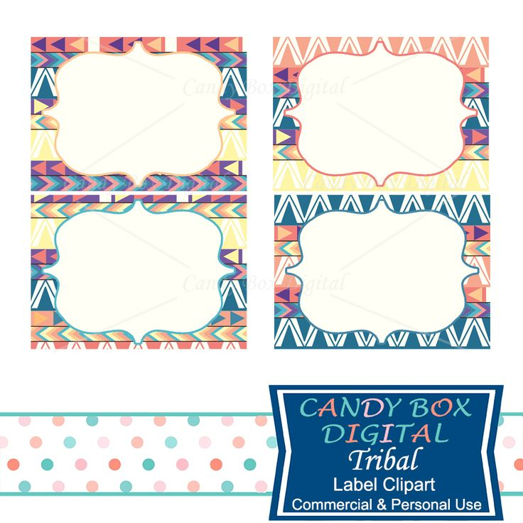 Tribal Native American Indian Label Clipart - Commercial Use OK - Candy Box…
