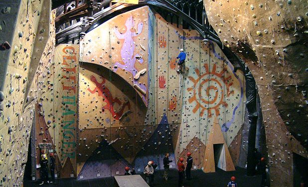 Hosted in a refurbished church with walls extending into the eaves, The Glasgow Climbing Centre is perfect for climbing and bouldering.