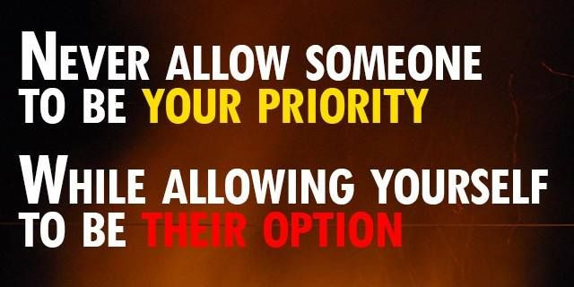 should accepting being priority when dating single