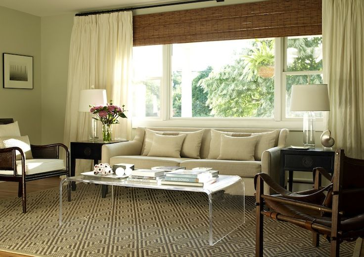 1000 images about bamboo blinds and curtains on pinterest black trim linen curtains and for Bamboo shades in living room