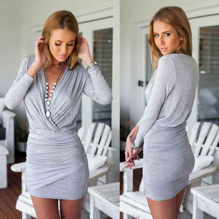 Party Dresses Sexy & Club Long Knee-length Solid Lange Kleider Elegant 2016 V-neck Plus Size Clothing Woman Hot Dresses