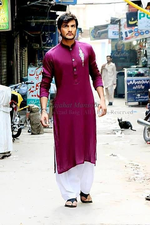 Eid Men Kurta Shalwar Kameez Designs 2015-2016   StylesGap.com