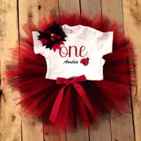 Baby Girl 1st Birthday Outfit - Ladybug 1st Birthday Bloomers Set - First Birthday Smash Cake Outfit - Black and Red - Ladybug by HeartfeltCreations8 on Etsy https://www.etsy.com/listing/453482772/baby-girl-1st-birthday-outfit-ladybug