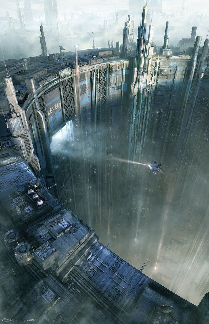 Les incroyables matte paintings de science-fiction de Stefan Morrell | Design Spartan : Art digital, digital painting, webdesign, ressources, tutoriels et inspiration…