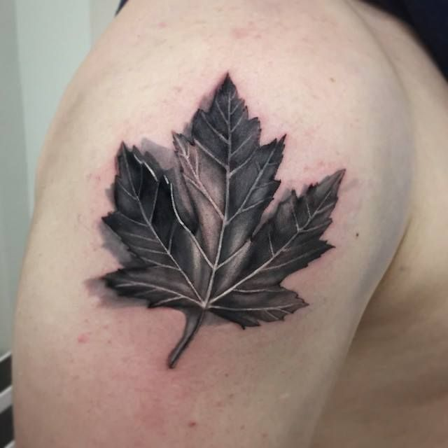Chronic Ink Tattoo - Toronto Tattoo Maple leaf tattoo done by Martin.