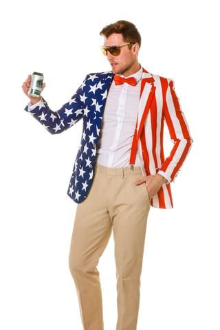8c7fec3c6b92 The New and Improved Tommy J American Flag Blazer