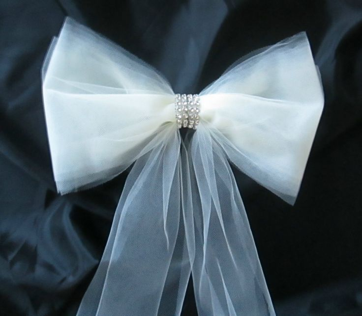 7 best images about wedding decorations on pinterest christmas set of 6 pew bows in tulle with rhinestones pew decorations aisle bows rhinestone band tulle bows wedding decorations with pew clips junglespirit Choice Image