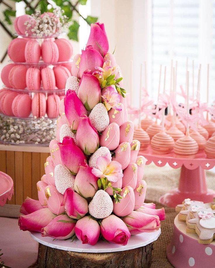 designer strawberry tower by chocolatenos5 gorgeous