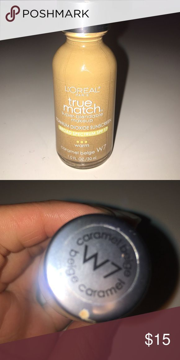 L'ORÉAL true match foundation in Carmel beige W7! L'ORÉAL true match foundation in Carmel beige W7! L'Oreal Makeup Foundation