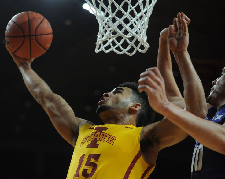 Iowa State's Naz Mitrou-Long puts up a shot as Kansas State's Carlbe Ervin defends during the second half of the Cyclones' 70-65 victory on Tuesday at Hilton Coliseum. Photo by Nirmalendu Majumdar/Ames Tribune http://www.amestrib.com/sports/20170124/hines-column-process-is-more-important-than-results-for-cyclones