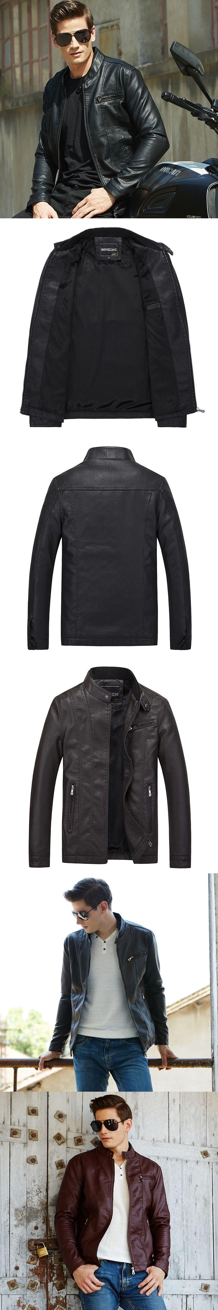 new male pilot Faux leather jacket men motorcycle brand fit slim fashion black coat blouson moto jaqueta de couro outerwear